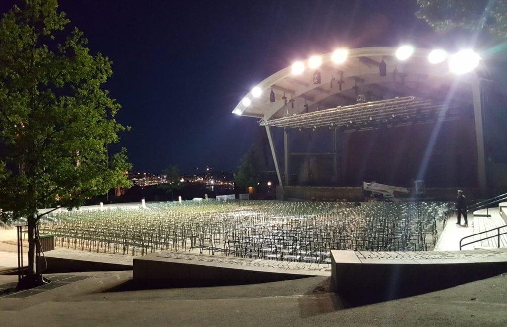 Skansens scen nattbild med Ori 480W