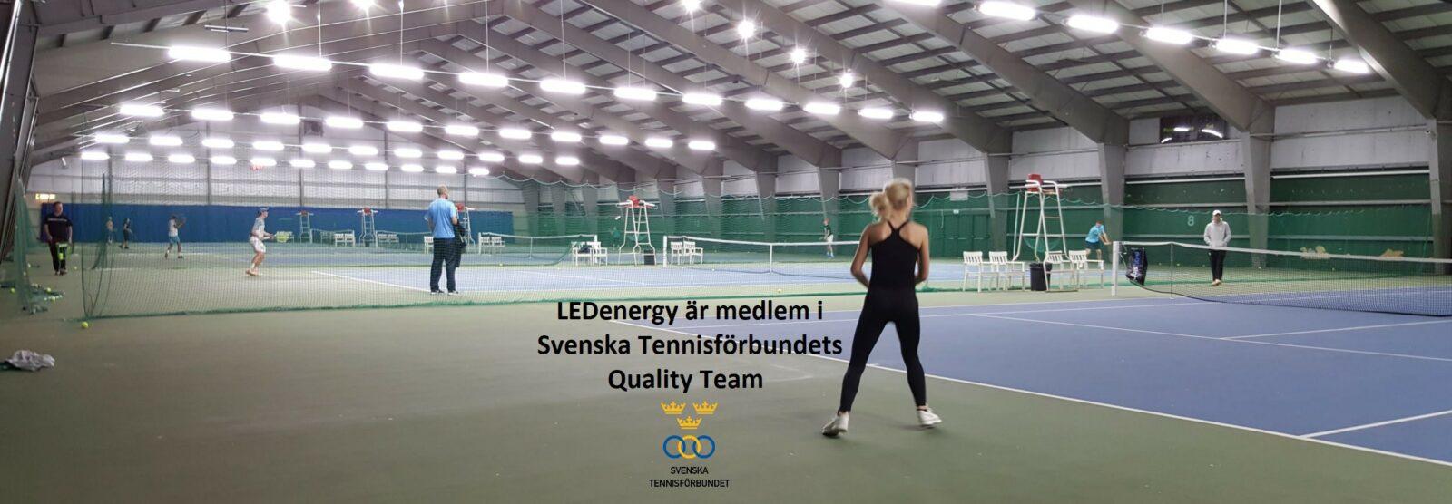 LEDenergy är medlem i Svenska Tennisförbundets Quality Team
